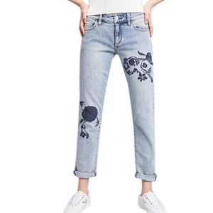 Pilcro & the letterpress Hyphen Embroidered Jeans